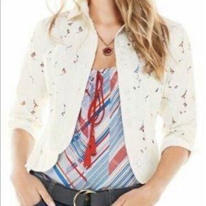 Cabi # 5162 Portrait Jacket Cream Lace